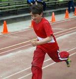 τρέξιμο αγοριών Στοκ εικόνα με δικαίωμα ελεύθερης χρήσης
