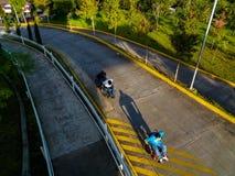 Τρέξιμο αναπηρικών καρεκλών Στοκ Εικόνα