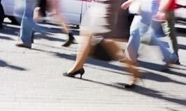 τρέξιμο ανθρώπων Στοκ Εικόνες