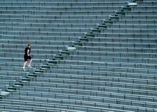 τρέξιμο ατόμων λευκαντών Στοκ εικόνα με δικαίωμα ελεύθερης χρήσης