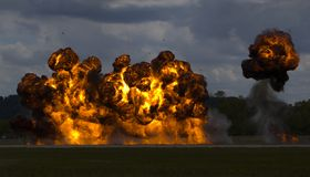τρέξιμο βομβαρδισμού Στοκ Εικόνες