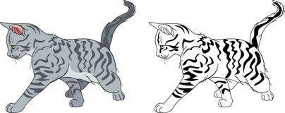 τρέξιμο γατών ρηγέ απεικόνιση αποθεμάτων