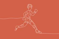 τρέξιμο Γραμμική γραμμή γραφική Στοκ Εικόνες
