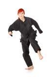 Τρέξιμο γυναικών Wushu Στοκ εικόνες με δικαίωμα ελεύθερης χρήσης