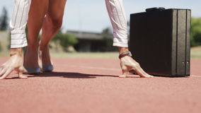 Τρέξιμο επιχειρηματιών απόθεμα βίντεο