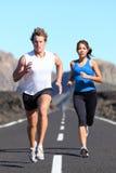 τρέξιμο ζευγών Στοκ εικόνες με δικαίωμα ελεύθερης χρήσης