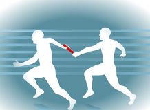 τρέξιμο ηλεκτρονόμων Στοκ Εικόνες
