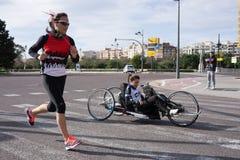 Τρέξιμο ημέρας γυναικών Στοκ Εικόνα