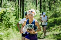 τρέξιμο ηλικιωμένων γυναικών Στοκ Εικόνες