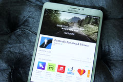 Τρέξιμο και ικανότητα app Runtastic Στοκ φωτογραφίες με δικαίωμα ελεύθερης χρήσης