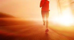 τρέξιμο κινήσεων θαμπάδων αθλητών Στοκ Εικόνες