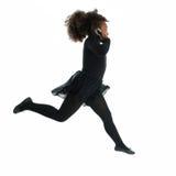τρέξιμο κοριτσιών κινητών τη& Στοκ Φωτογραφίες