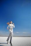 τρέξιμο κοριτσιών Στοκ Φωτογραφίες