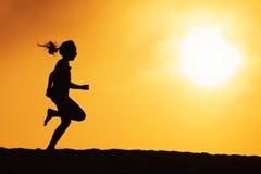 τρέξιμο κοριτσιών Στοκ Εικόνα
