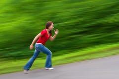 τρέξιμο κοριτσιών Στοκ εικόνες με δικαίωμα ελεύθερης χρήσης