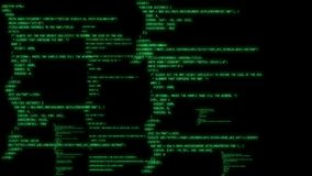 Τρέξιμο κώδικα προγραμματισμού απόθεμα βίντεο