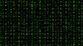 Τρέξιμο κώδικα Randome απόθεμα βίντεο