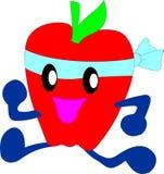 τρέξιμο μήλων διανυσματική απεικόνιση