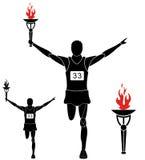 τρέξιμο μαραθώνιος Στοκ Εικόνες