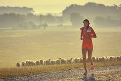 Τρέξιμο ξημερωμάτων Στοκ Φωτογραφία