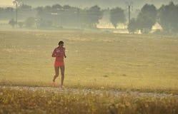 Τρέξιμο ξημερωμάτων Στοκ Εικόνα