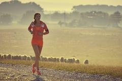 Τρέξιμο ξημερωμάτων Στοκ εικόνα με δικαίωμα ελεύθερης χρήσης