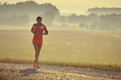 Τρέξιμο ξημερωμάτων Στοκ φωτογραφία με δικαίωμα ελεύθερης χρήσης