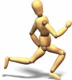 τρέξιμο ξύλινο Στοκ Φωτογραφίες