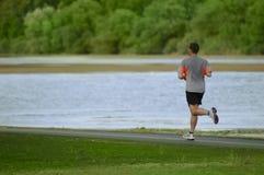 τρέξιμο πάρκων ατόμων Στοκ φωτογραφία με δικαίωμα ελεύθερης χρήσης