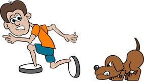 τρέξιμο που φοβάται Στοκ Φωτογραφίες