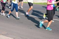 τρέξιμο προσώπων Στοκ Εικόνα