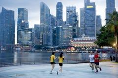 Τρέξιμο σε Σινγκαπούρη Στοκ Εικόνες