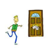 τρέξιμο ταχυδρομείου απεικόνιση αποθεμάτων