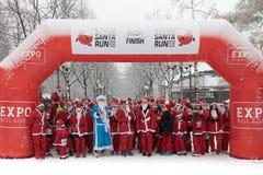 Τρέξιμο 2016 της Στοκχόλμης Santa στοκ φωτογραφία