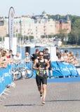 Τρέξιμο της Anja Knapp Triathlete Στοκ Φωτογραφίες