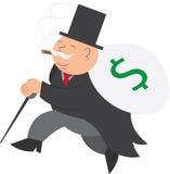 τρέξιμο χρημάτων ατόμων ελεύθερη απεικόνιση δικαιώματος