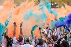Τρέξιμο χρώματος του Σικάγου στοκ εικόνες