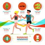 Τρέξιμο Infographics Στοκ Εικόνα
