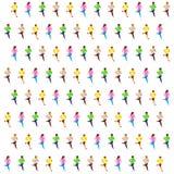 Τρέξιμο sprinter isometric Στοκ Φωτογραφία