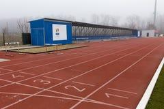 Τρέξιμο tarmac και κοίλωμα άλματος Στοκ Φωτογραφίες
