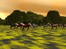 τρέχοντας άγρια περιοχές Διανυσματική απεικόνιση