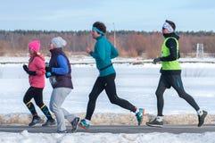 Τρέχοντας άνθρωποι, αθλητισμός τρεξίματος για όλους Στοκ εικόνες με δικαίωμα ελεύθερης χρήσης