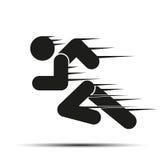 Τρέχοντας άνθρωποι στην κίνηση Απλό σύμβολο του τρεξίματος απεικόνιση αποθεμάτων