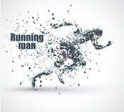 Τρέχοντας άτομο, διάφορη σύνθεση μορίων, διανυσματική απεικόνιση ελεύθερη απεικόνιση δικαιώματος