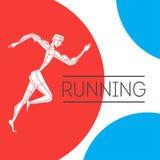 Τρέχοντας άτομο με τη μορφή χρώματος Στοκ Φωτογραφία