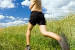 τρέχοντας ίχνος ατόμων χωρών διαγώνιο Στοκ εικόνες με δικαίωμα ελεύθερης χρήσης