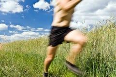 τρέχοντας ίχνος ατόμων χωρών διαγώνιο Στοκ Εικόνες