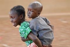 τρέχοντας αδελφή αδελφών Στοκ Εικόνα