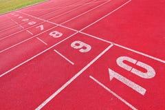 τρέχοντας αθλητική διαδρομή Στοκ εικόνες με δικαίωμα ελεύθερης χρήσης