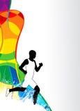 Τρέχοντας αθλητικό υπόβαθρο Στοκ φωτογραφία με δικαίωμα ελεύθερης χρήσης